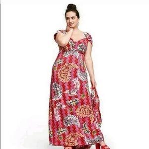 Zac posen target safety pin print maxi dress